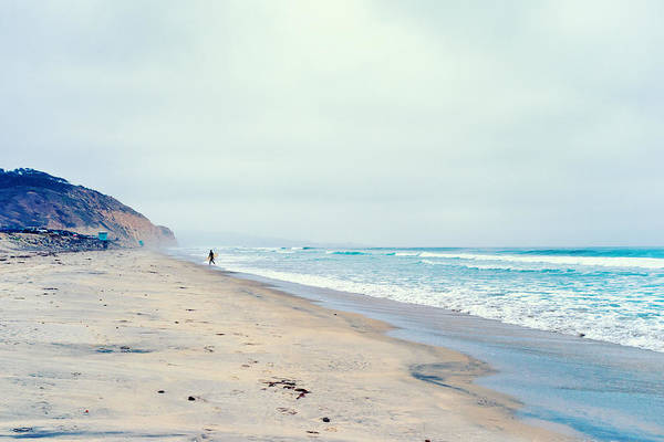 La Jolla Art Print featuring the photograph Lone Surfer by Tanya Harrison