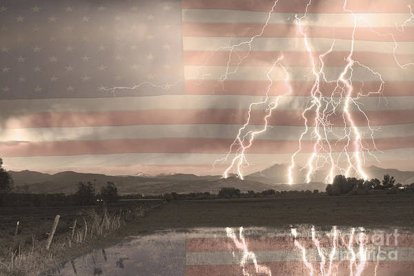 America Art Print featuring the photograph Love For Country by James BO Insogna