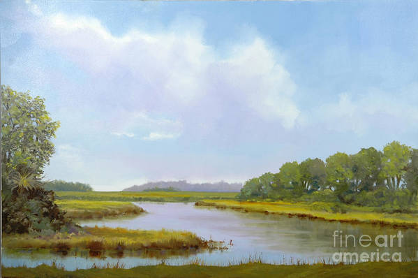 St. Simons Art Print featuring the painting Lowcountry Afternoon by Glenn Secrest