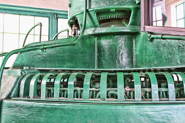 Green Art Print featuring the digital art Machinery by Audreen Gieger