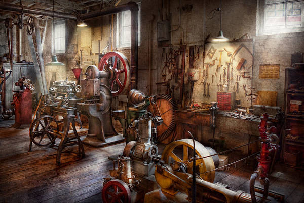 Machinist Art Print featuring the photograph Machinist - A Room Full Of Memories by Mike Savad