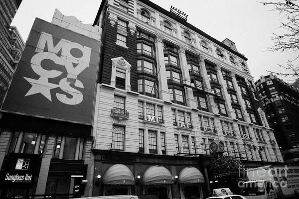 Usa Art Print featuring the photograph Macys Department Store New York City by Joe Fox
