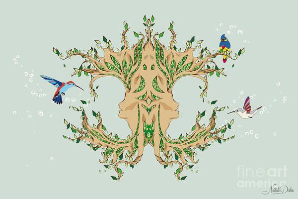 Art Art Print featuring the digital art Magic Tree by Disko Galerie