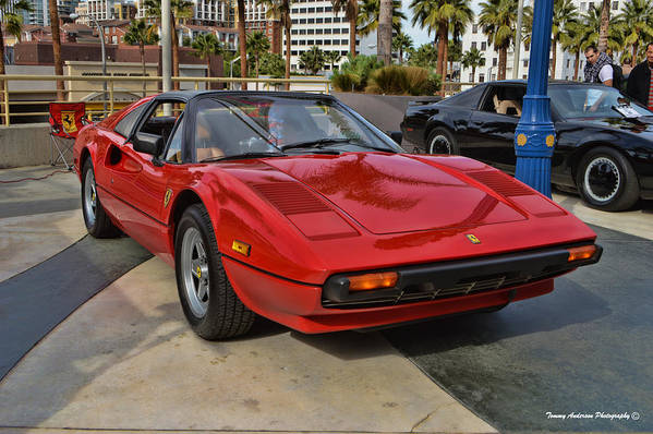 Ferrari 308 Gtb Print featuring the photograph Magnum Pi by Tommy Anderson