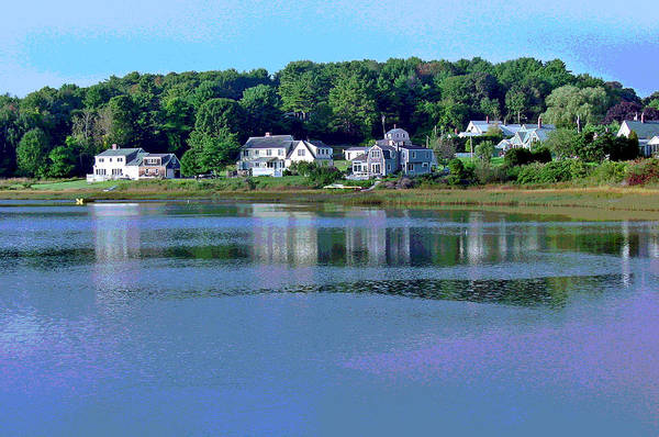 Maine Art Print featuring the photograph Maine Lakefront by Suzanne Gaff