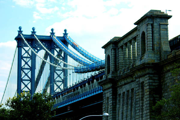 Manhattan Art Print featuring the photograph Manhattan Bridge by Adam Barone