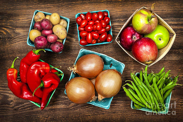 Local Print featuring the photograph Market Fruits And Vegetables by Elena Elisseeva