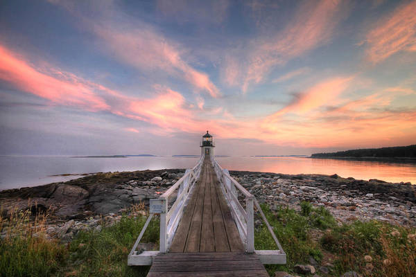 Lighthouse Art Print featuring the photograph Marshall Point Sunset by Lori Deiter