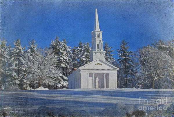 Chapel Art Print featuring the photograph Martha Mary Chapel In Winter by Jayne Carney