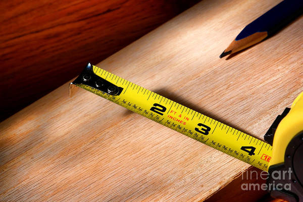 Carpentry Art Print featuring the photograph Measure Twice by Olivier Le Queinec