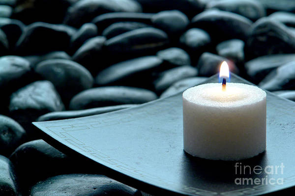 Candle Art Print featuring the photograph Meditation by Olivier Le Queinec