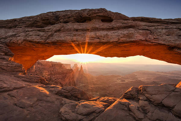 Mesa Arch Art Print featuring the photograph Mesa Arch Morning by Andrew Soundarajan