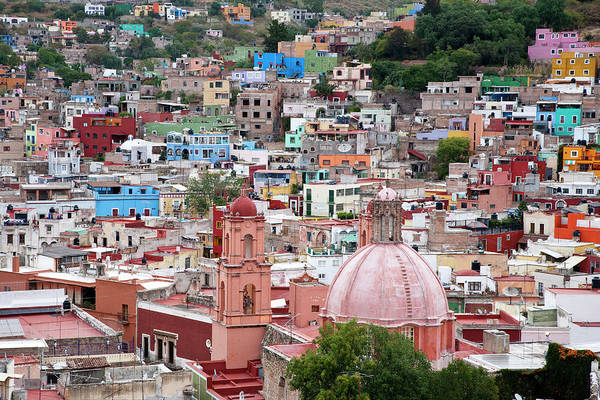 Architecture Art Print featuring the photograph Mexico, Guanajuato, View Of Guanajuato by Hollice Looney