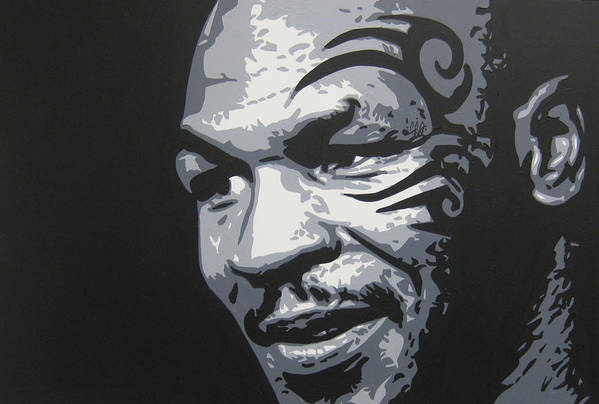Tyson Art Print featuring the painting Mike Tyson 11 by Geo Thomson