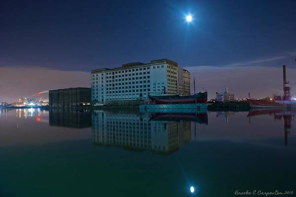 Reflections Art Print featuring the photograph Millenium Mills Spillers Docklands by Brooke Carpenter