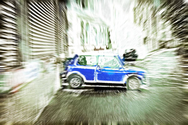 Abstract Art Print featuring the photograph Mini Car by Tom Gowanlock