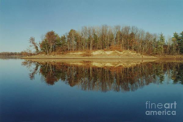 Lake Art Print featuring the photograph Mirror Reflection by Nancie Johnson
