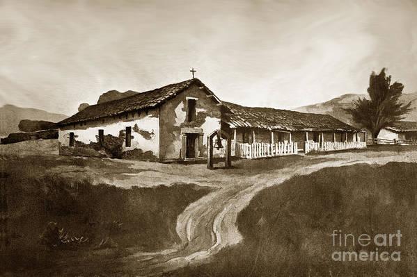 Mission Art Print featuring the photograph Mission San Rafael California Circa 1880 by California Views Mr Pat Hathaway Archives