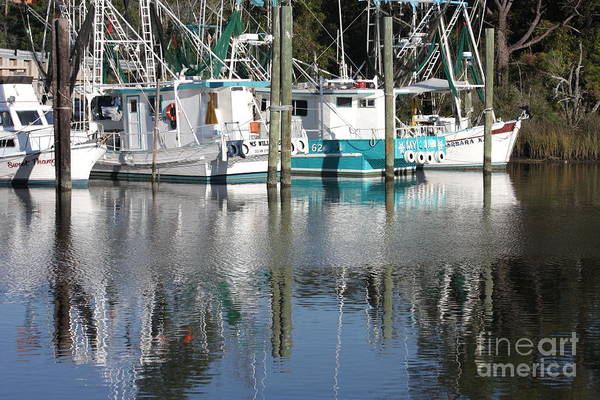 Boats Art Print featuring the photograph Mississippi Boats by Carol Groenen
