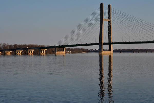 Bridge Art Print featuring the photograph Mississippi River Bridge by Kim Hymes