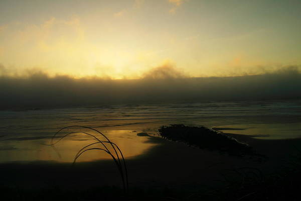 Ocean Art Print featuring the photograph Misty Oregon Coast by Jeff Swan