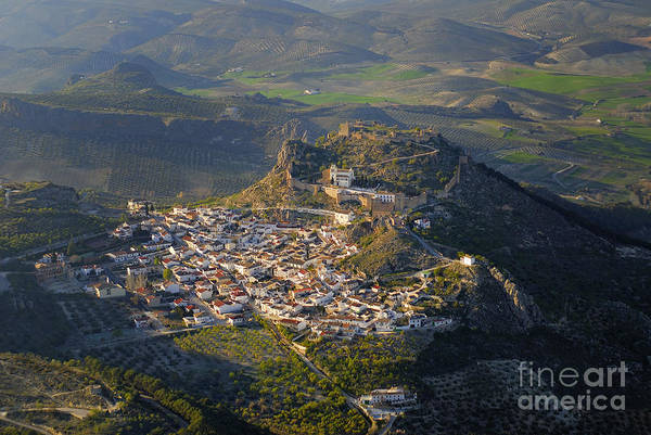 Aerial Photo Art Print featuring the photograph Moclin Castle by Guido Montanes Castillo