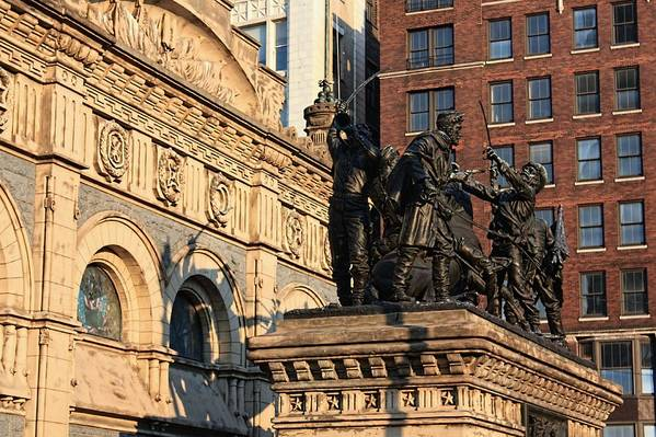 Cleveland Art Print featuring the photograph Monument by Jenny Hudson