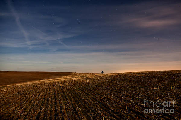 Palouse Art Print featuring the photograph Moon Lit Night On The Palouse by Beve Brown-Clark Photography
