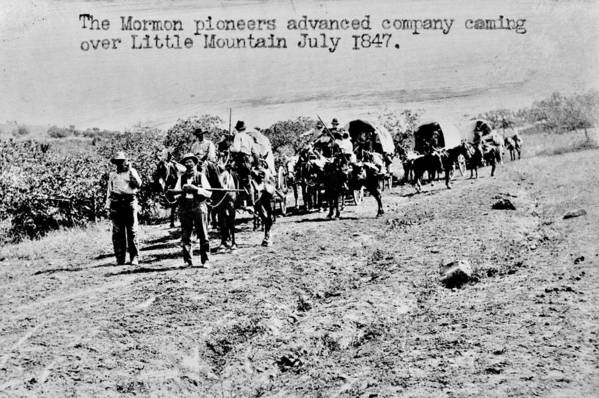 Mormon Art Print featuring the photograph Mormon Pioneers by Benjamin Yeager