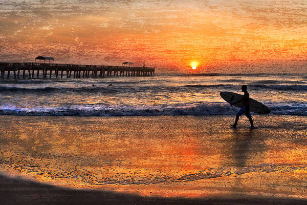 Benny's Print featuring the photograph Morning Surf by Debra and Dave Vanderlaan
