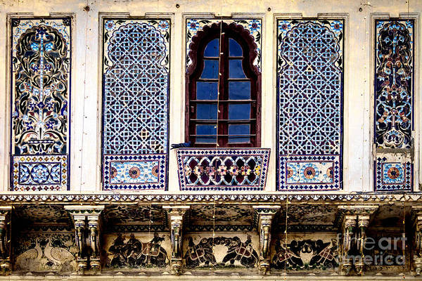 India Art Print featuring the photograph Mosaic Windows by Catherine Arnas
