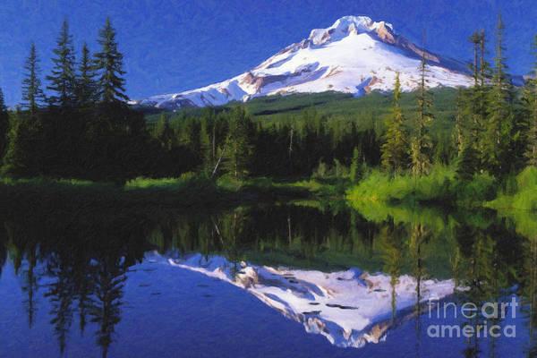 Mount Hood Art Print featuring the painting Mount Hood by Safran Fine Art