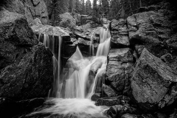 Waterfall Photography Art Print featuring the photograph Mountain Waterfall by Garett Gabriel