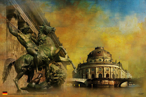 Museum Art Print featuring the painting Museum Island by Catf
