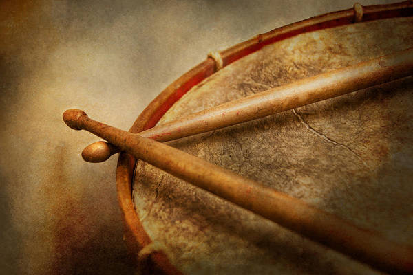 Hdr Art Print featuring the photograph Music - Drum - Cadence by Mike Savad