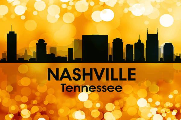 Nashville Art Print featuring the mixed media Nashville Tn 3 by Angelina Vick