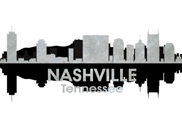 Nashville Print featuring the mixed media Nashville Tn 4 by Angelina Vick