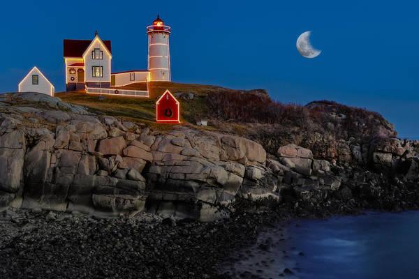 Nubble Lighthouse Art Print featuring the photograph Neddick Lighthouse by Susan Candelario
