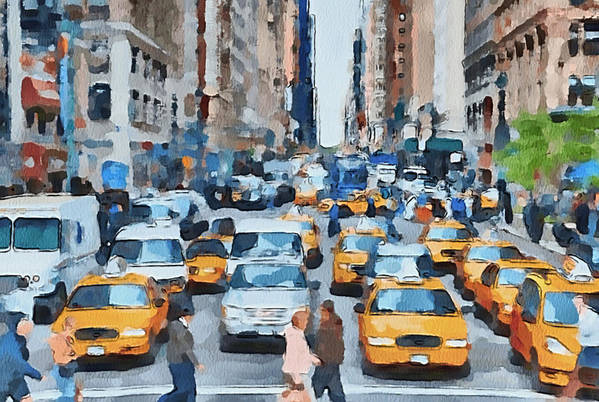 New Art Print featuring the digital art New York 1 by Yury Malkov