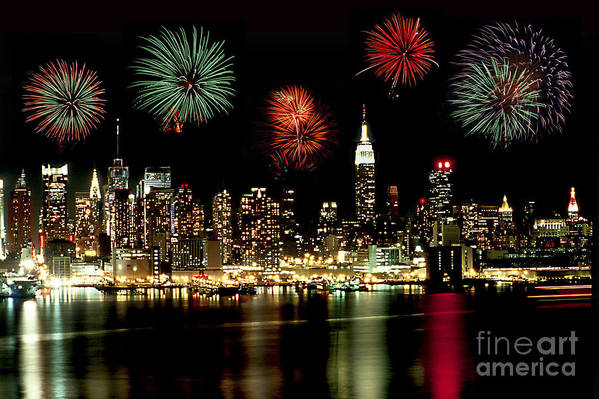 Nyc Art Print featuring the photograph New York City Fourth Of July by Anthony Sacco