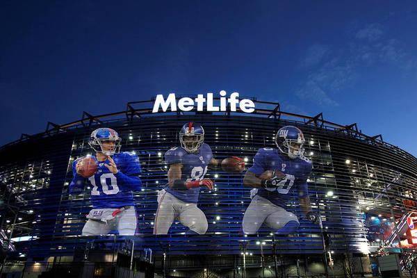Giants Art Print featuring the photograph New York Giants Metlife Stadium by Joe Hamilton