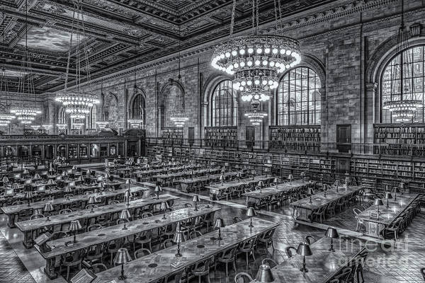 Clarence Holmes Art Print featuring the photograph New York Public Library Main Reading Room X by Clarence Holmes