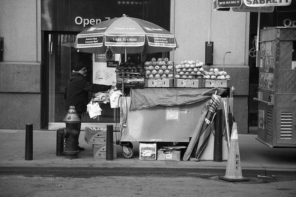 Apples Art Print featuring the photograph New York Street Photography 6 by Frank Romeo