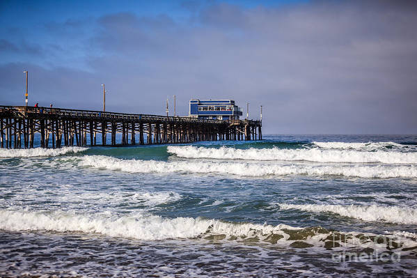 America Art Print featuring the photograph Newport Beach Pier In Orange County California by Paul Velgos