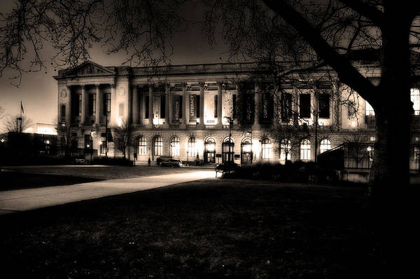 Architecture Art Print featuring the photograph Night At The Library II by Robert Culver