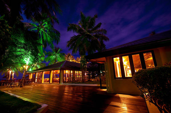 Tropical Art Print featuring the photograph Night Lights At The Resort by Jenny Rainbow
