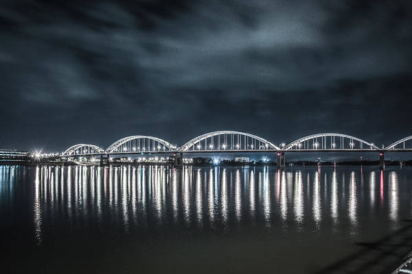Mississippi Art Print featuring the photograph Night Reflections by Ray Congrove