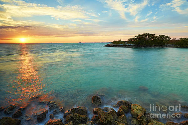 Harbor Art Print featuring the photograph No Name Harbor Sunset by Eyzen M Kim