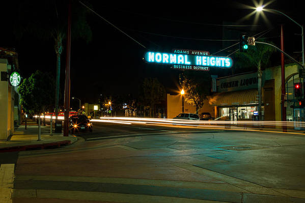Normal Heights Print featuring the photograph Normal Heights Neon by John Daly