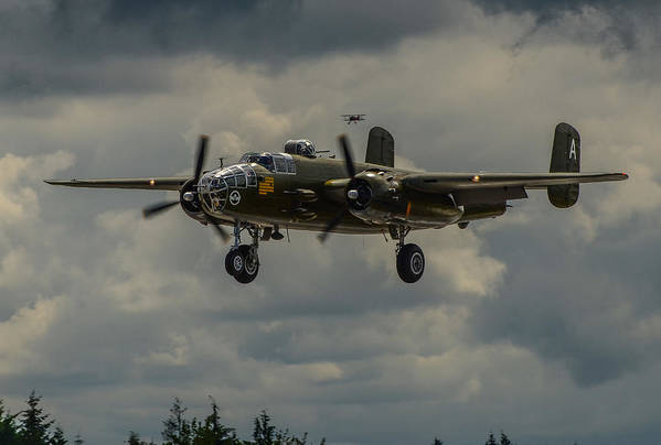 Air Show Print featuring the photograph North American B-25j Mitchell by Puget Exposure